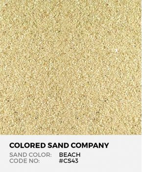 Beach #CS43 Classic Colored Sand Art Material