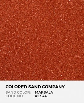 Marsala #CS44 Classic Colored Sand Art Material