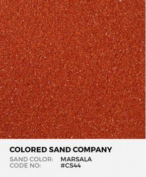 Marsala #CS44 Classic Colored Sand Art Material