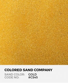 Gold #CS45 Classic Colored Sand Art Material