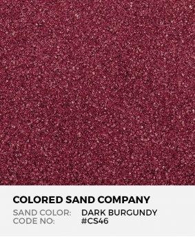 Dark Burgundy #CS46 Classic Colored Sand Art Material