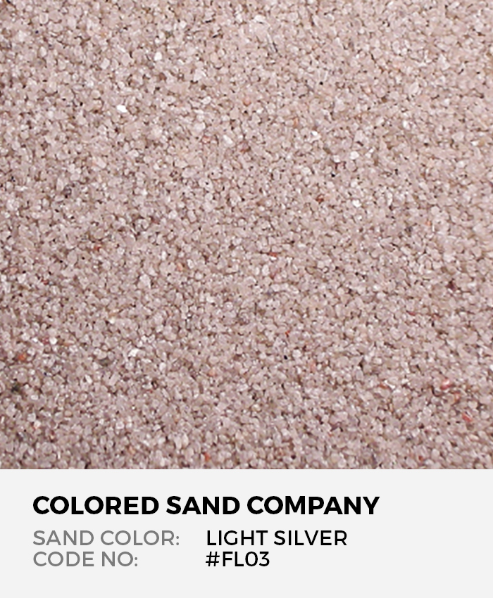 Light Silver #FL03 Floral Colored Sand Art Material