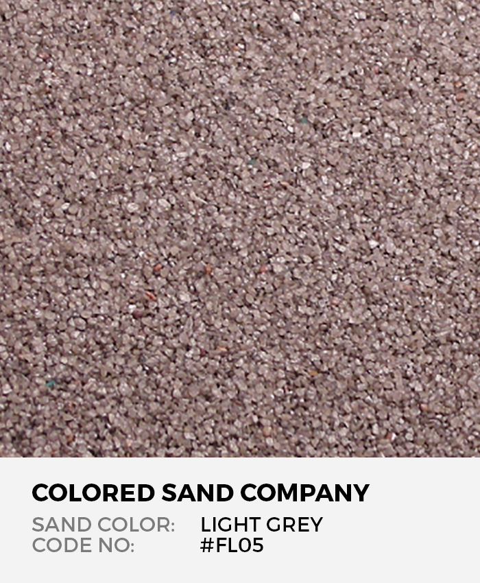 Light Gray #FL05 Floral Colored Sand Art Material