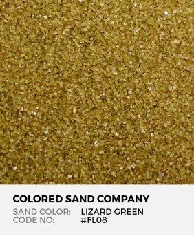 Lizard Green #FL08 Floral Colored Sand Art Material