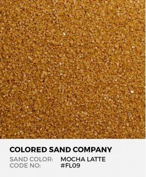 Mocha Latte #FL09 Floral Colored Sand Art Material