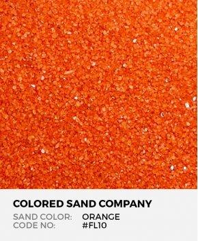 Orange #FL10 Floral Colored Sand Art Material