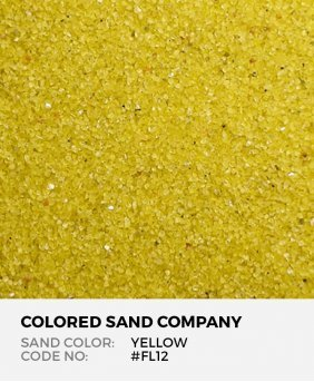 Yellow #FL12 Floral Colored Sand Art Material