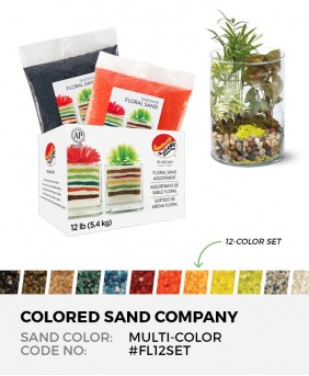 Floral Sand Assortment, Multi-Colored 12pc Sand Set