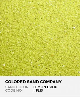 Lemon Drop #FL13 Floral Colored Sand Art Material