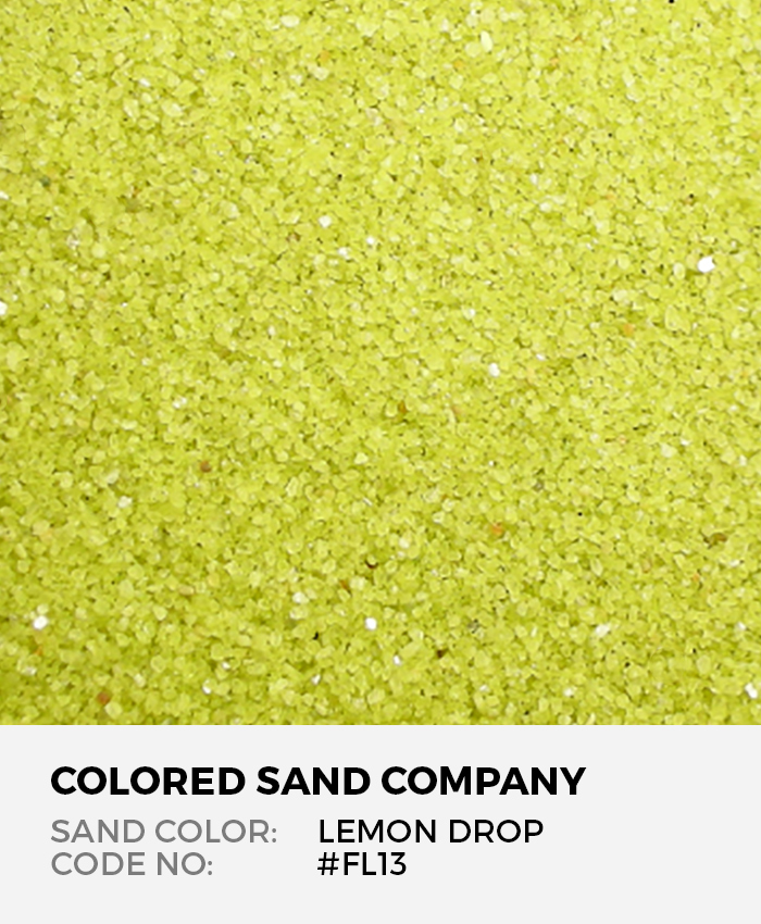 Lemon Drop #FL13 Floral Colored Sand Art Material