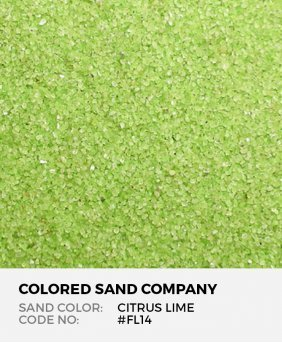 Citrus Lime #FL14 Floral Colored Sand Art Material