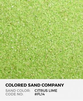 Citrus Lime #FL14 Floral Colored Sand Art Material
