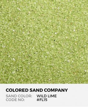 Wild Lime #FL15 Floral Colored Sand Art Material