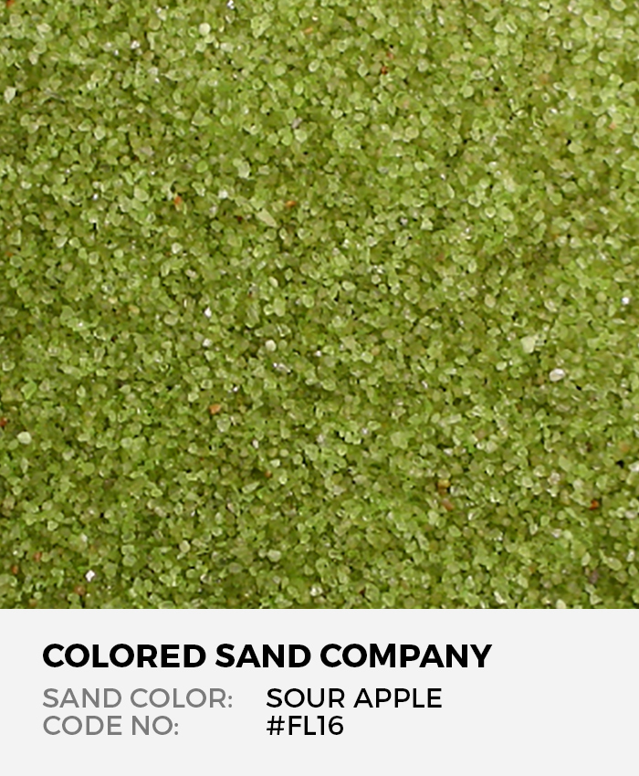 Sour Apple #FL16 Floral Colored Sand Art Material