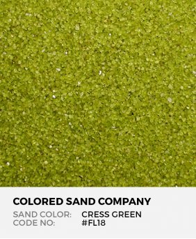 Cress Green #FL18 Floral Colored Sand Art Material