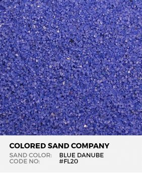 Blue Danube #FL20 Floral Colored Sand Art Material