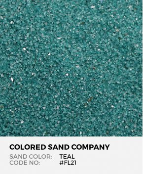 Teal #FL21 Floral Colored Sand Art Material