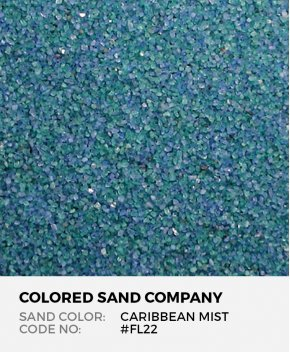 Caribbean Mist #FL22 Floral Colored Sand Art Material