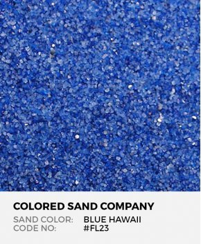 Blue Hawaii #FL23 Floral Colored Sand Art Material