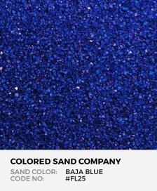 Baja Blue #FL25 Floral Colored Sand Art Material