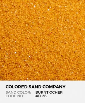 Burnt Ocher #FL26 Floral Colored Sand Art Material
