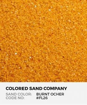 Burnt Ocher #FL26 Floral Colored Sand Art Material