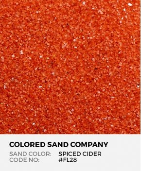 Spiced Cider #FL28 Floral Colored Sand Art Material