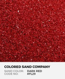 Dark Red #FL29 Floral Colored Sand Art Material