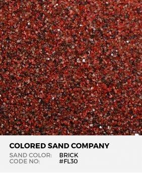 Brick #FL30 Floral Colored Sand Art Material