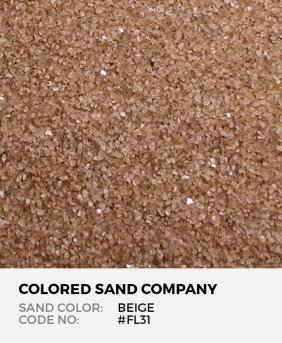 Beige #FL31 Floral Colored Sand Art Material