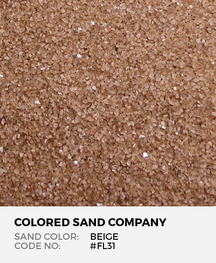 Beige #FL31 Floral Colored Sand Art Material