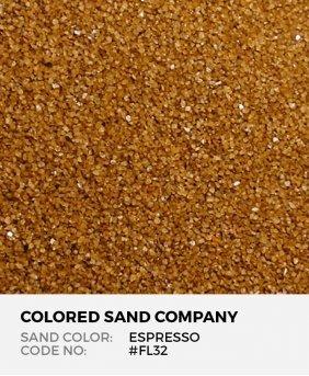 Espresso #FL32 Floral Colored Sand Art Material