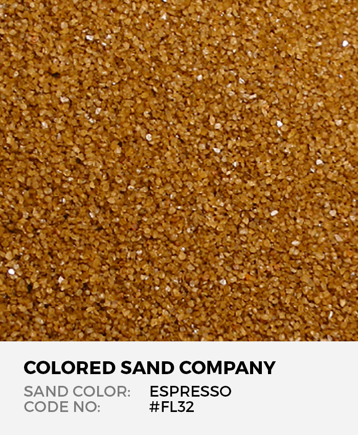 Espresso #FL32 Floral Colored Sand Art Material