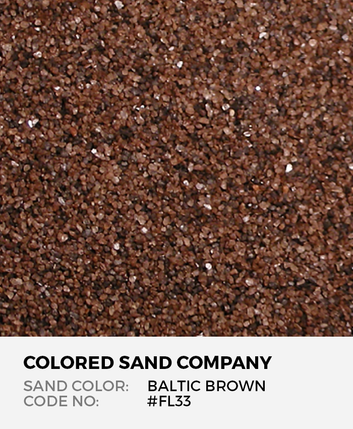 Baltic Brown #FL33 Floral Colored Sand Art Material