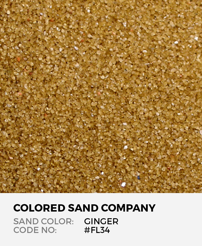 Ginger #FL34 Floral Colored Sand Art Material