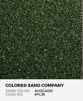 Avocado #FL36 Floral Colored Sand Art Material