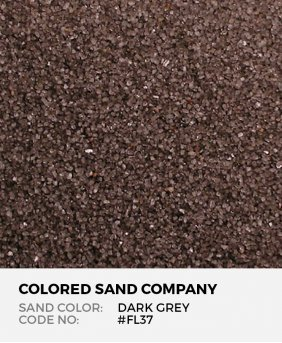 Dark Gray #FL37 Floral Colored Sand Art Material