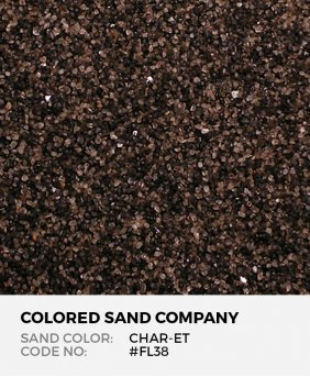 Char-et #FL38 Floral Colored Sand Art Material