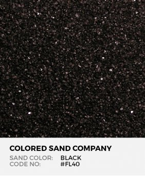 Black #FL40 Floral Colored Sand Art Material
