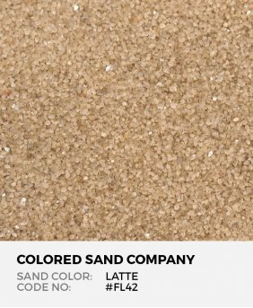 Latte #FL42 Floral Colored Sand Art Material