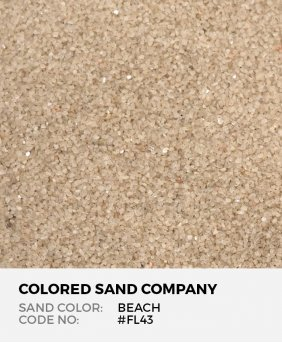 Beach #FL43 Floral Colored Sand Art Material