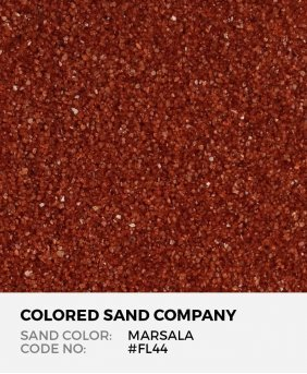 Marsala #FL44 Floral Colored Sand Art Material