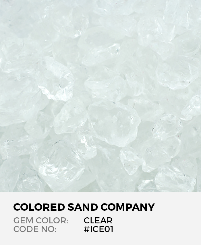 Clear #ICE01 Colored ICE Decorative Glass Gems