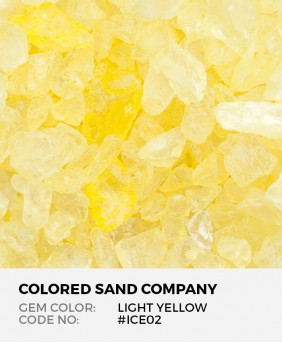 Light Yellow #ICE02 Colored ICE Decorative Glass Gems