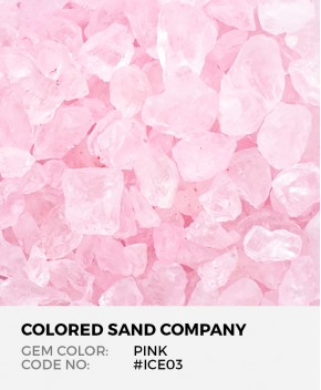 Pink #ICE03 Colored ICE Decorative Glass Gems