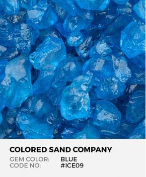 Blue #ICE09 Colored ICE Decorative Glass Gems