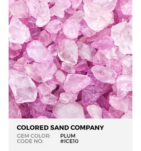 Plum Ice10 Colored Ice Decorative Glass Gems