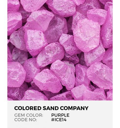 Purple Ice14 Colored Ice Decorative Glass Gems
