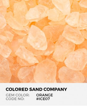 Peach #ICE18 Colored ICE Decorative Glass Gems