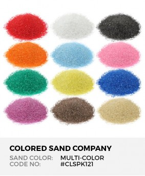 12pc Multi-Color Sand Assortment - Class Pack I